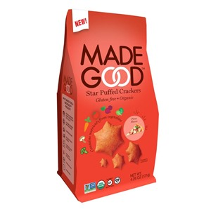 MadeGood Puffed Crackers are All-Stars for Healthy Allergy-Friendly Snacking! Organic, Vegan, Gluten-Free, Top Allergen-Free, and made with fruits and vegetables. Reviews and info here ...
