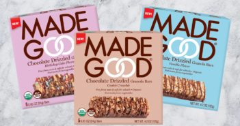 MadeGood Chocolate Drizzled Granola Bars Reviews & Info - vegan, gluten-free, top allergen-free, organic, and infused with the nutrients of 6 fruits and vegetables.
