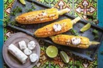 Vegan Grilled Corn Recipe with Creamy Garlic & Herb Cheese Spread - gluten-free, allergy-friendly