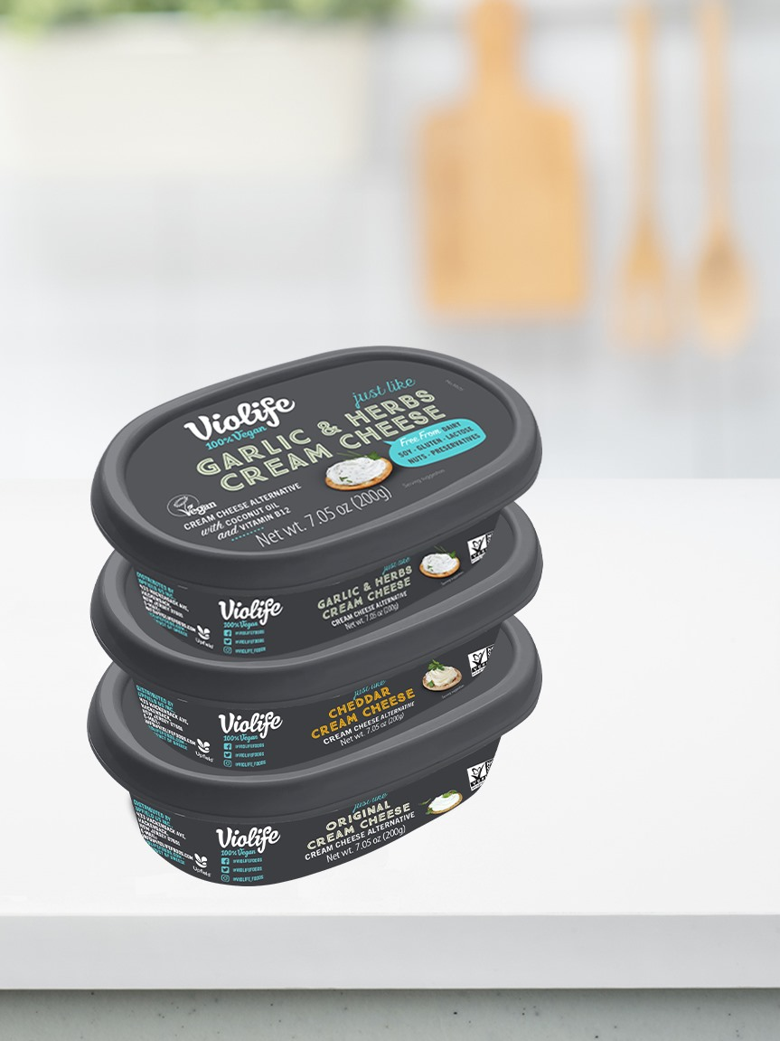 Violife Vegan Cream Cheese Reviews and Info - Dairy-Free, Gluten-Free, Vegan, Top Allergen-Free, and Keto-Friendly. 3 Flavors.