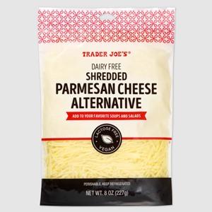 Trader Joe's Dairy-Free Parmesan Cheese Alternative Reviews and Info - vegan, soy-free, gluten-free, nut-free