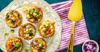 Dairy-Free Mini Quiche Recipe with Gluten-Free Sweet Potato Crust. Naturally Healthy, Grain-Free, Paleo, and Whole30 Friendly.