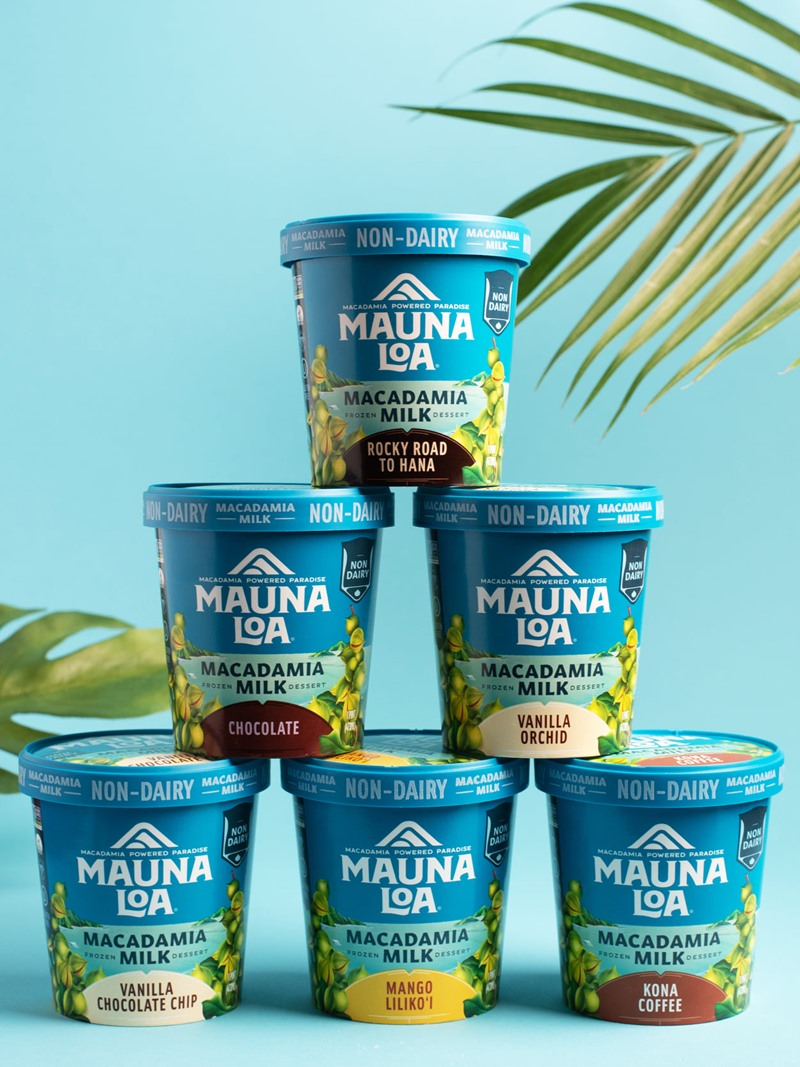 Mauna Loa Macadamia Milk Ice Cream says Aloha to Frozen Dessert Fans - Info and Reviews for this Creamy, Hawaiian, Dairy-Free, Vegan and Gluten-Free Ice Cream Line in 7 Island-Inspired Flavors