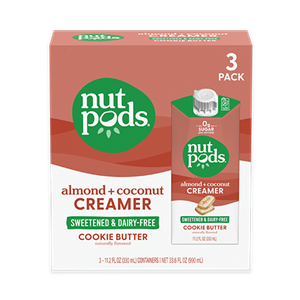 Nutpods Sweetened Creamers Reviews & Info (Dairy-Free, Sugar-Free, Plant-Based, Soy-Free) - 0g Sugar, 0g Net Carbs, Keto Friendly - Cookie Butter, French Vanilla, Sweet Creme and Caramel Flavors