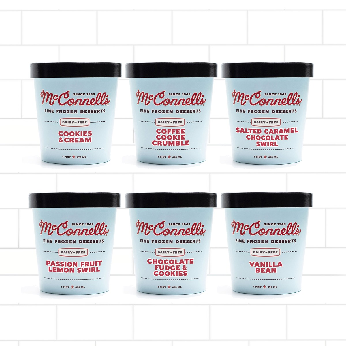 McConnell's Oat Milk Ice Cream Reviews & Info (Dairy-Free & Vegan) - 7 Flavors available by the scoop or pint, with shipping nationwide