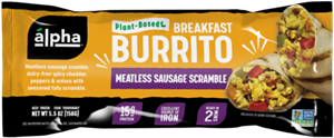 Alpha Breakfast Burritos make Weekdays Easier with 5 Different Varieties - Reviews and Info - All plant-based, dairy-free, and vegan.
