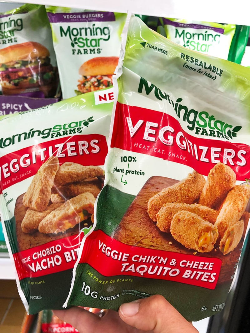 Morningstar Farms Veggitizers Reviews and Info - Vegan, Dairy-Free, Cheesy Taquito and Nacho Bites!