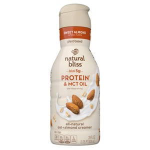 Natural Bliss Functional Creamers with Oat and Almond Milk Reviews and Info - These dairy-free, vegan, plant-based creamers are boosted with protein, MCT, and/or fiber.