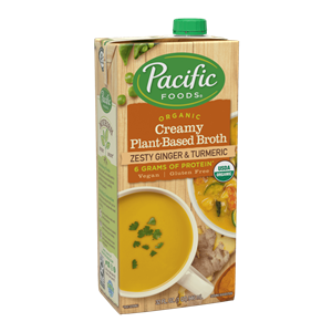 Pacific Foods Creamy Plant-Based Broths are Organically Better than Most - Dairy-Free, Soy-Free, Pure Simple Ingredients, High Protein, Bold Flavors