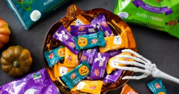 Enjoy Life Halloween Chocolate Minis - Gluten-Free, Dairy-Free, Nut-Free, Soy-Free, and Positively Delicious! Ricemilk Chocolate and Dark Chocolate Varieties.
