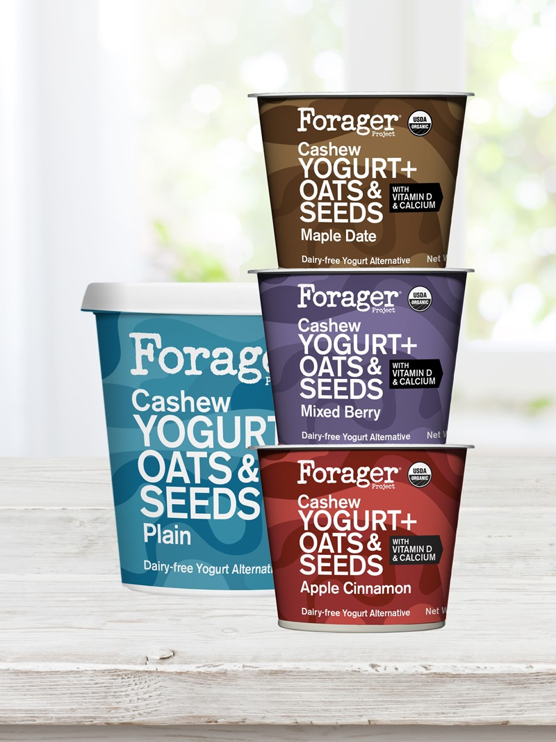 Forage Cashew Yogurt Oat and Seeds - Reviews and Info - Dairy-free, vegan, probiotics, calcium, protein, and more.