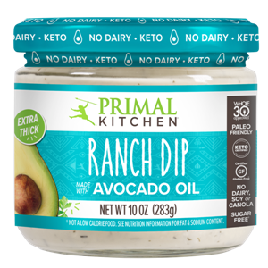 Primal Kitchen Dips Reviews and Info - Ranch and Buffalo Ranch - Dairy-Free, Paleo, Keto, Whole30, Soy-Free, Gluten-Free, and Nut-Free!