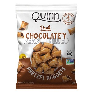 Quinn Filled Pretzels Reviews & Info (Gluten-Free, Dairy-Free, Vegan) - includes Plant-Based Cheezy and Dark Chocolat-y Peanut Butter