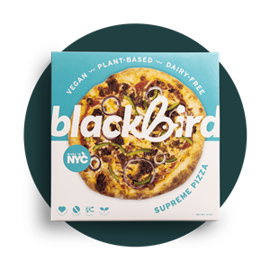 Blackbird Vegan Frozen Pizzas Reviews & Info (Dairy-Free, Plant-Based) - authentic NYC pizza, hand-tossed in a dedicated facility