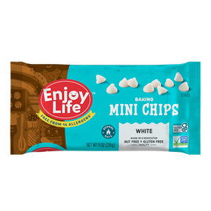 Enjoy Life White Baking Chips Reviews & Info (Allergy-Friendly) - dairy-free, gluten-free, soy-free, nut-free, vegan-friendly white chocolate chips for baking, icing, and more